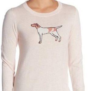 🐕 J.crew Mercantile Intarsia Dog Sweater Quartz